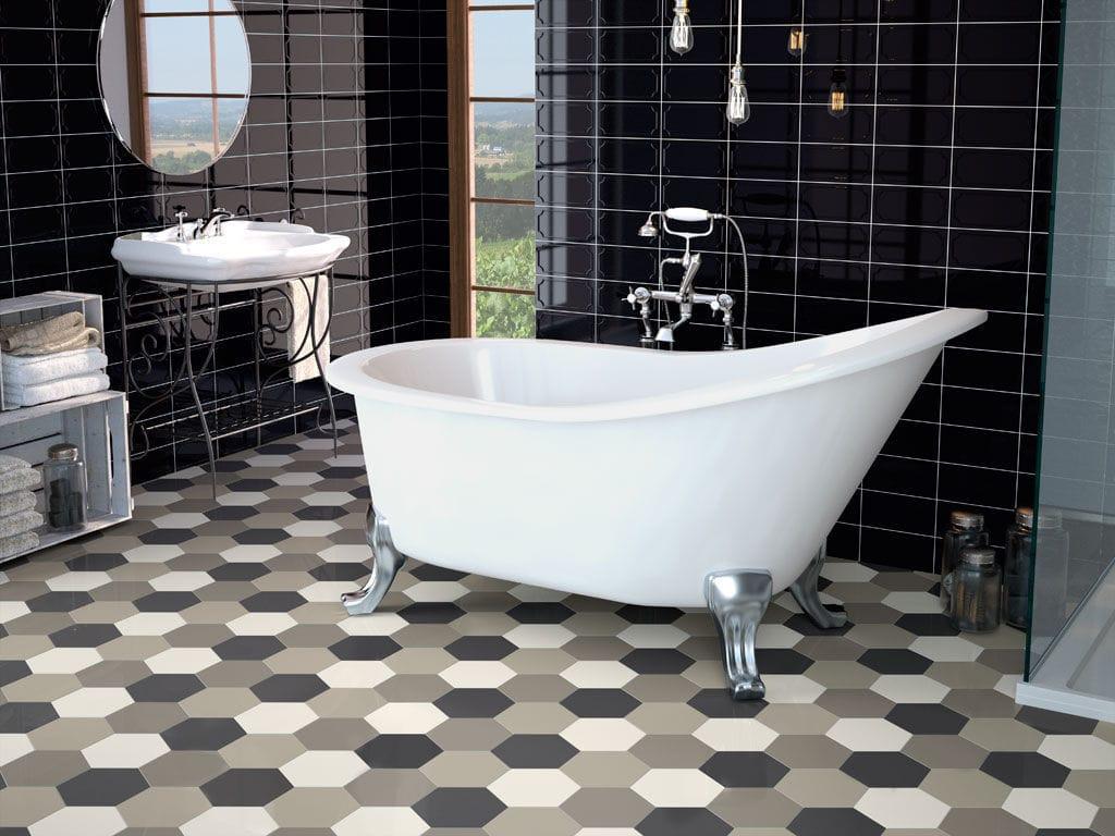 Tomette de salle de bain - HEXAGON - APE - de cuisine / de sol