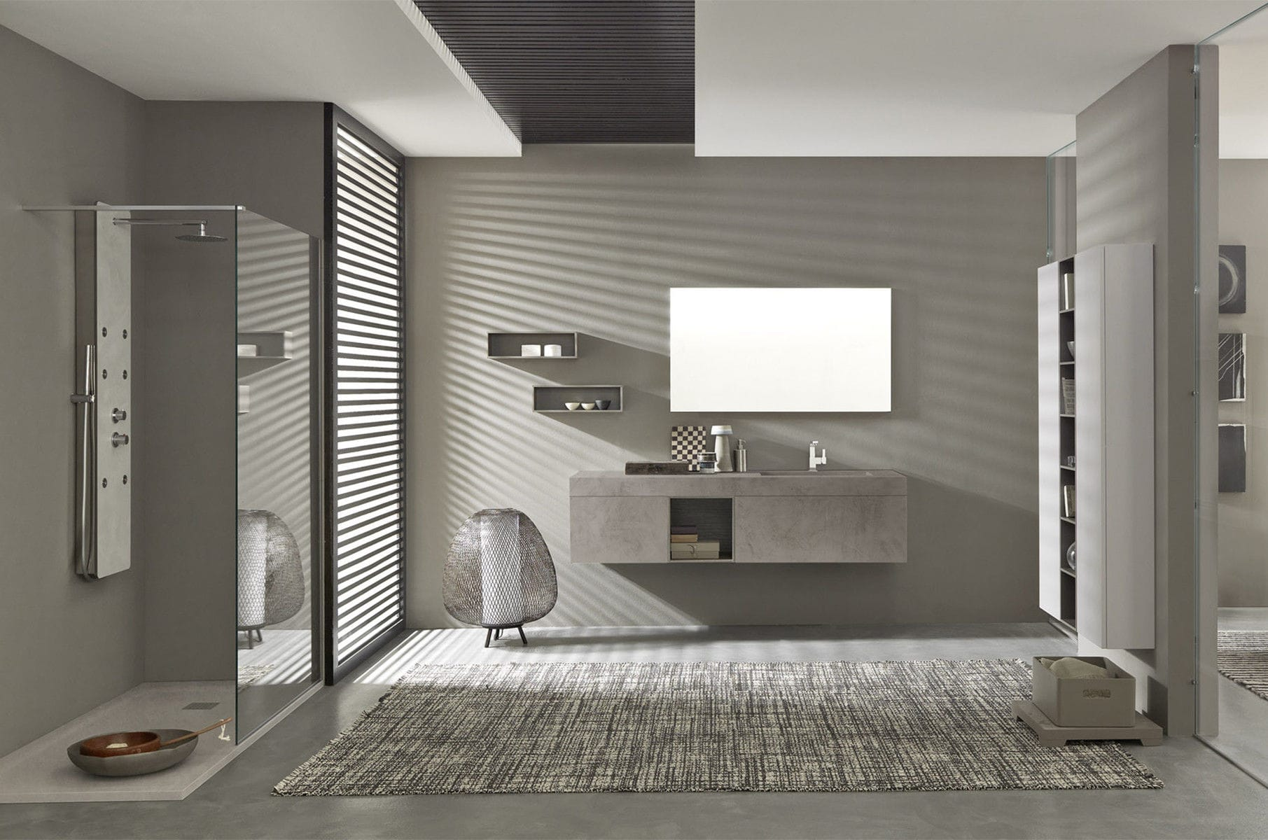 Salle de bain contemporaine / en céramique / en bois / en ...