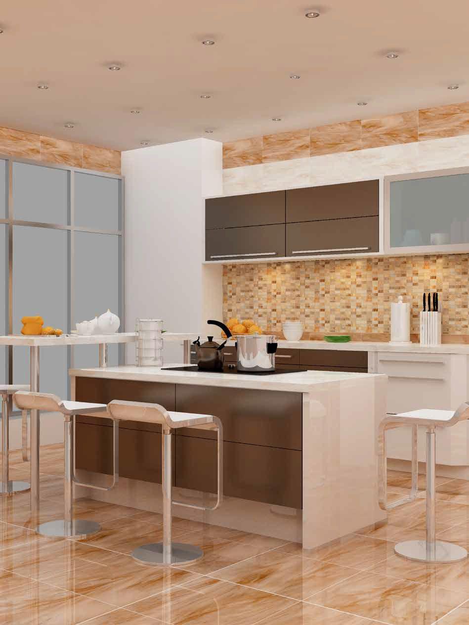Faience Cuisine Beige Et Marron carrelage de cuisine / de sol / mural / en céramique