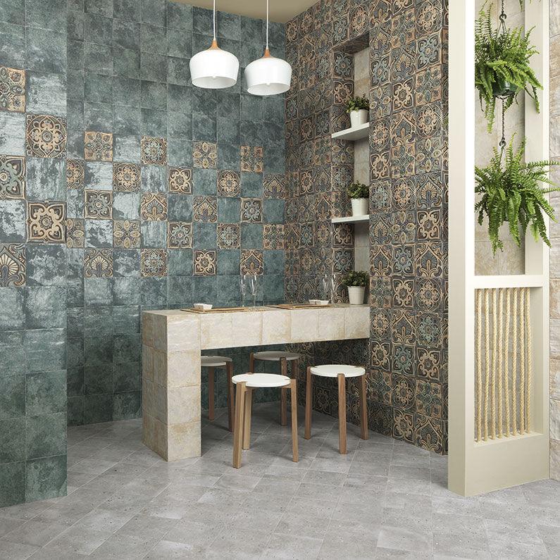 Carrelage D Interieur Mandala Mainzu Mural En Ceramique 20x20 Cm