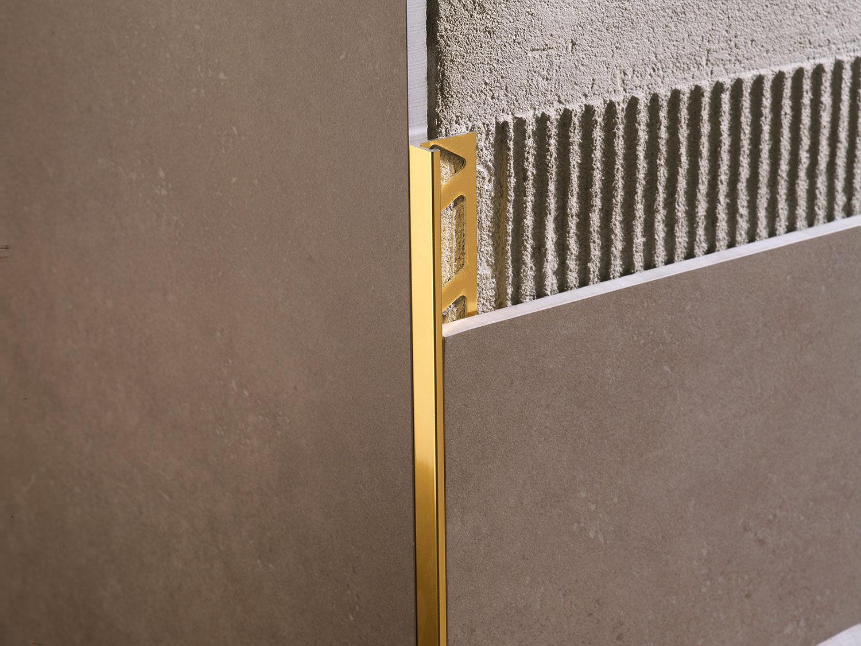 Coller Corniere Alu Sur Carrelage Exterieur profilé de finition en aluminium / pour carrelage / chant