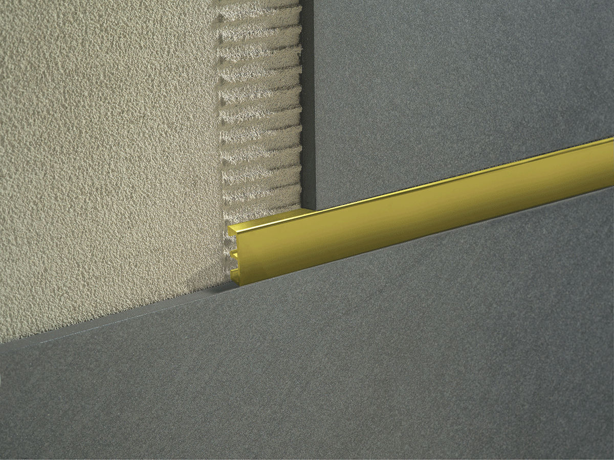 Coller Corniere Alu Sur Carrelage Exterieur profilé de séparation en aluminium / en résine / pour