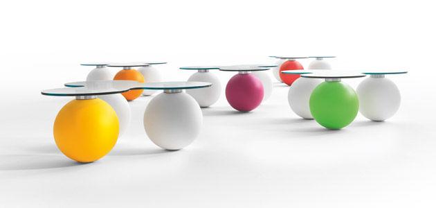 Table Basse Design Original En Verre En Plastique Ronde