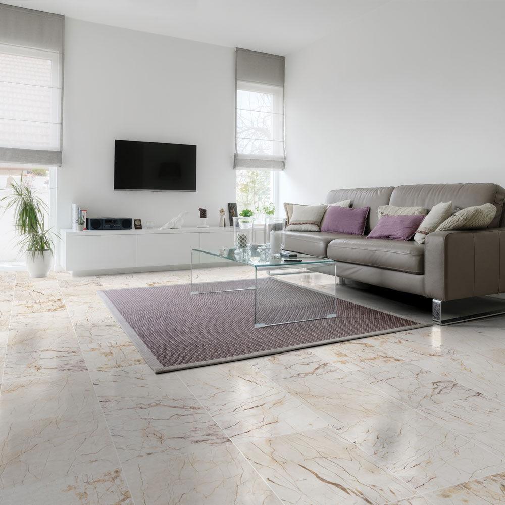 Carrelage d\'intérieur / de sol / en marbre / beige - CRYSTAL 2 ...