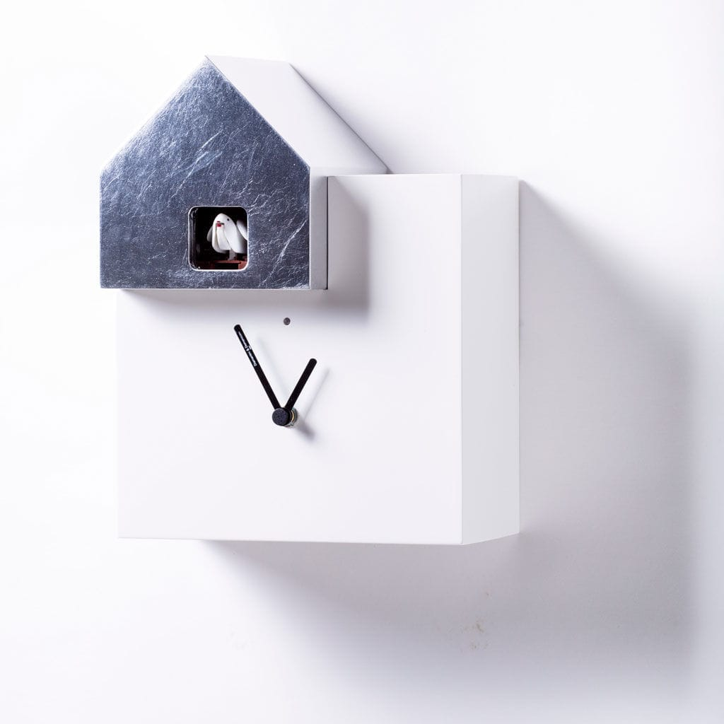 Horloge Contemporaine Ettore Diamantini Domeniconi Analogique Murale En Bois Laque