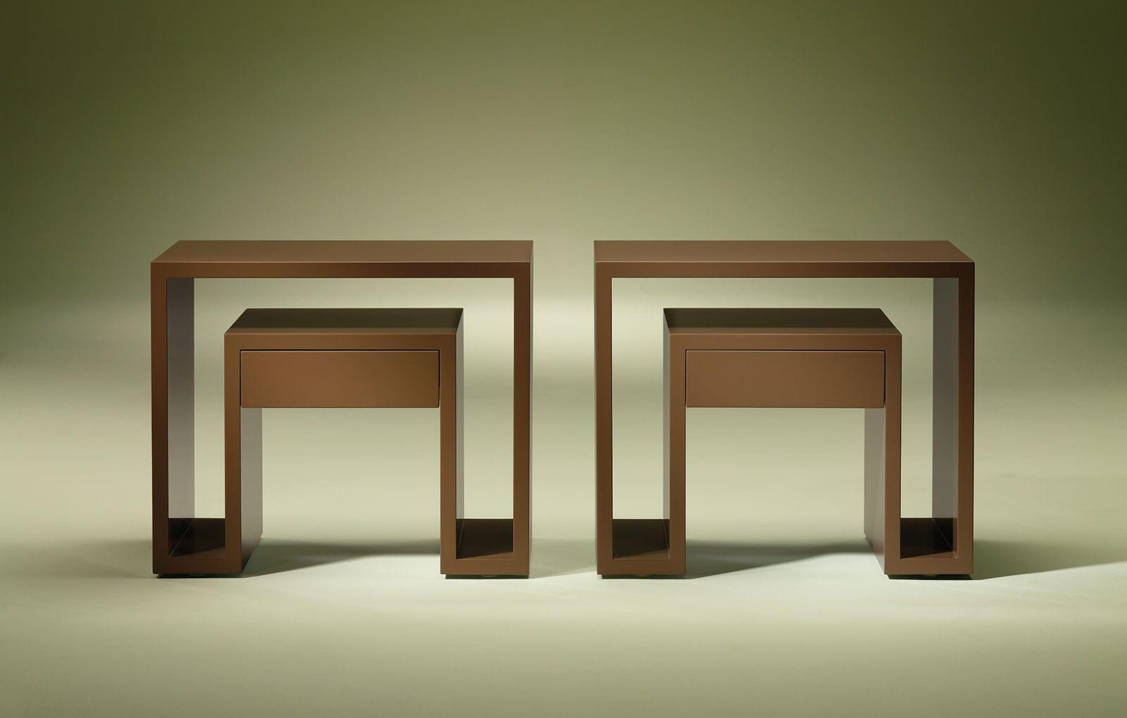 Table de chevet contemporaine / en bois / rectangulaire ...