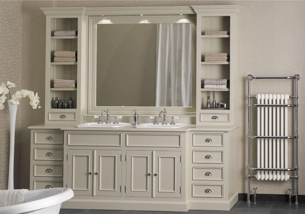 Excellent Meuble vasque double / à poser / en bois / en marbre - ENSEMBLE  UE31