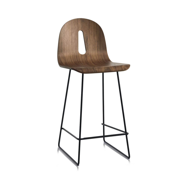 en contemporaine bar Chaise bois de en luge métal srhCtdQx
