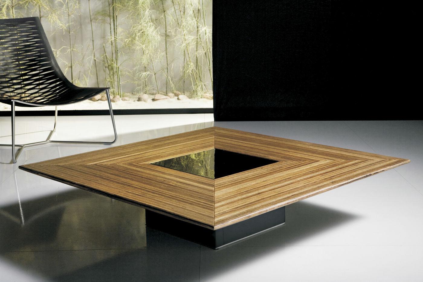 Table Basse Contemporaine En Bois Carrée Fitzroy Modloft