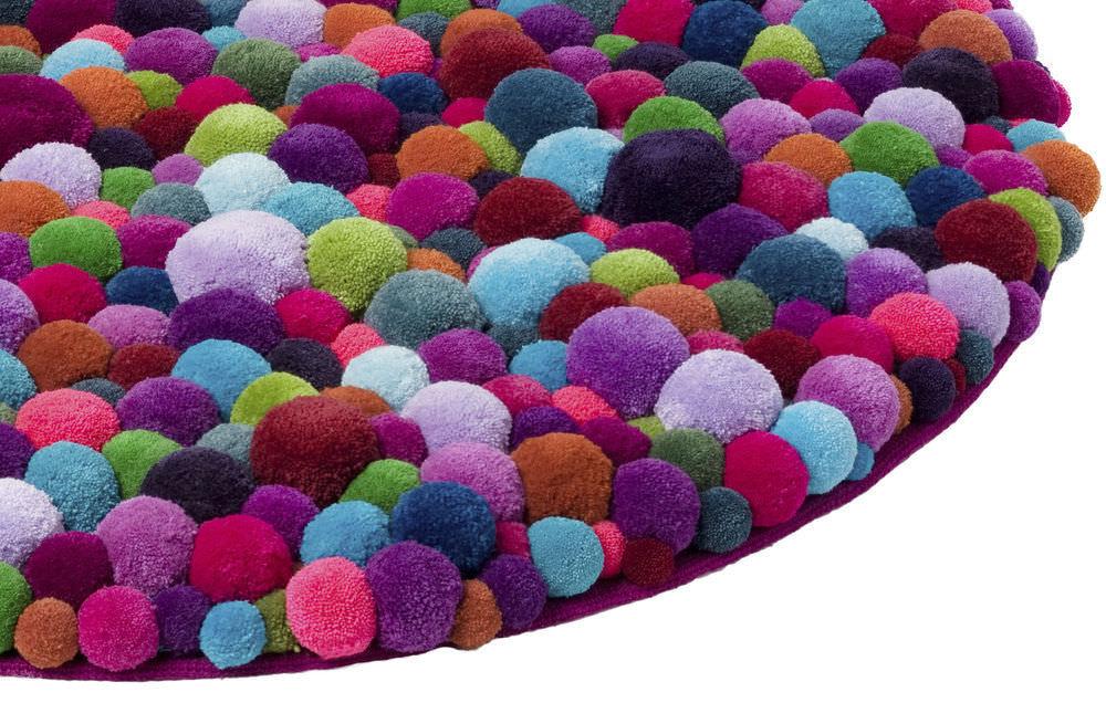 tapis design original pompon isle