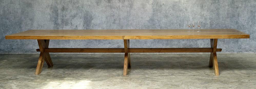 manger LONG bois à rectangulaire classique en Table thsdCQr