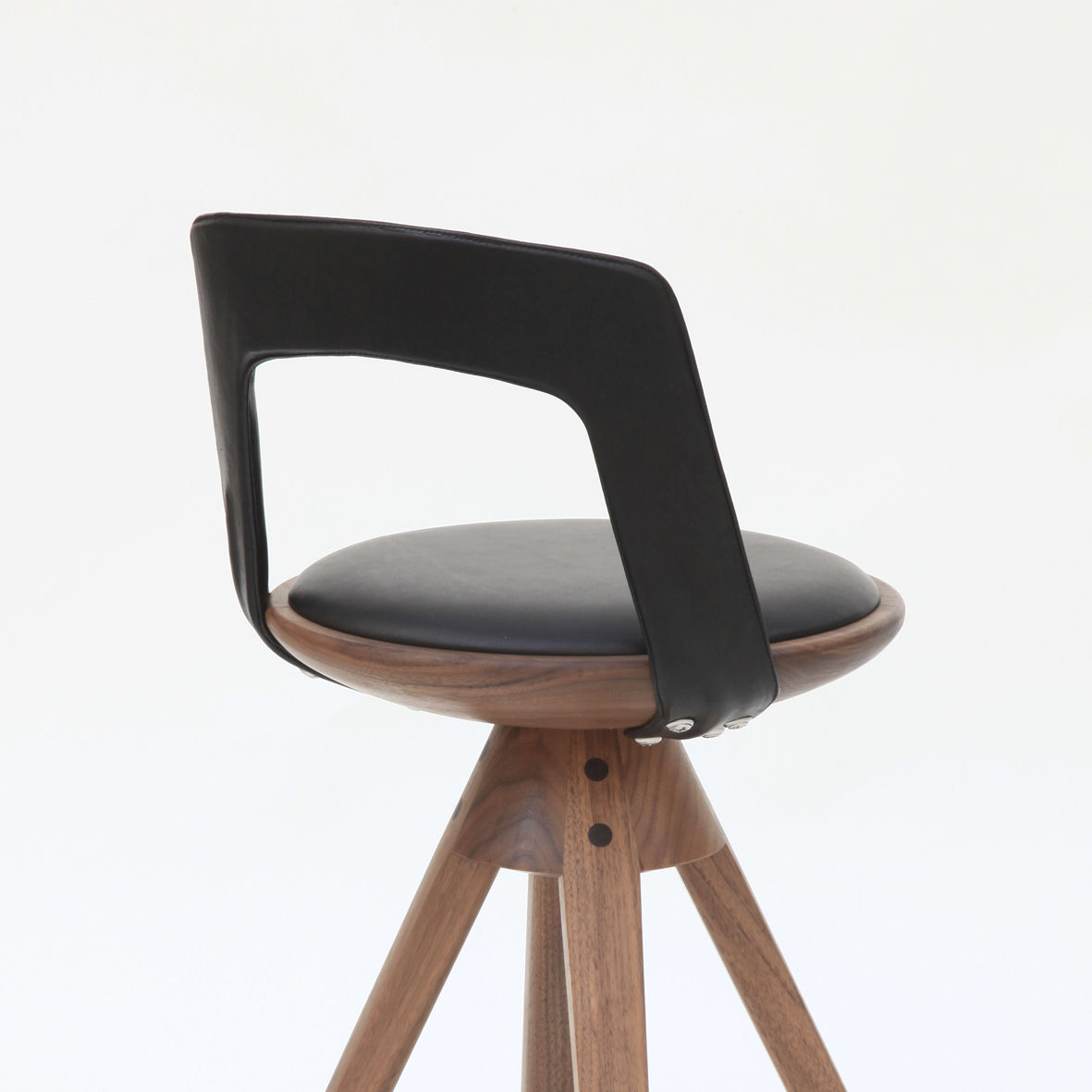En Pivotante De Bar Chaise Design Tapissée Noyer Scandinave shtCBrdQx