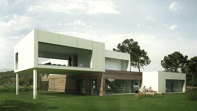 Maison Modulaire Dom Pujol Contemporaine Ecologique A 2 Etages