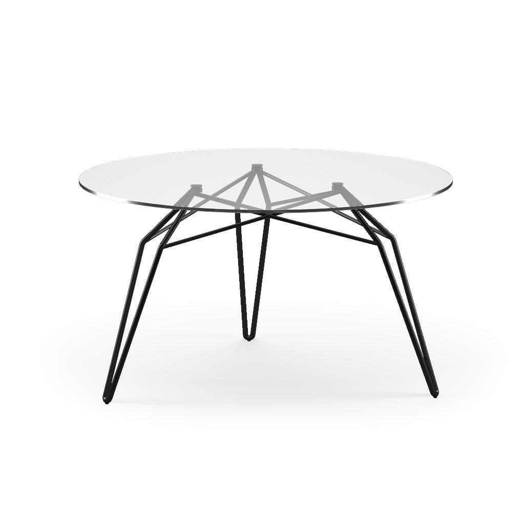 Diamond By Stolt Design Table Basse Contemporaine En Verre En Metal Ronde By Kubikoff Archiexpo
