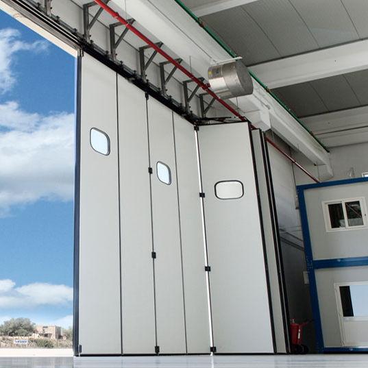 Porte Industrielle Coulissante A Empilement En Metal Automatique Kopron