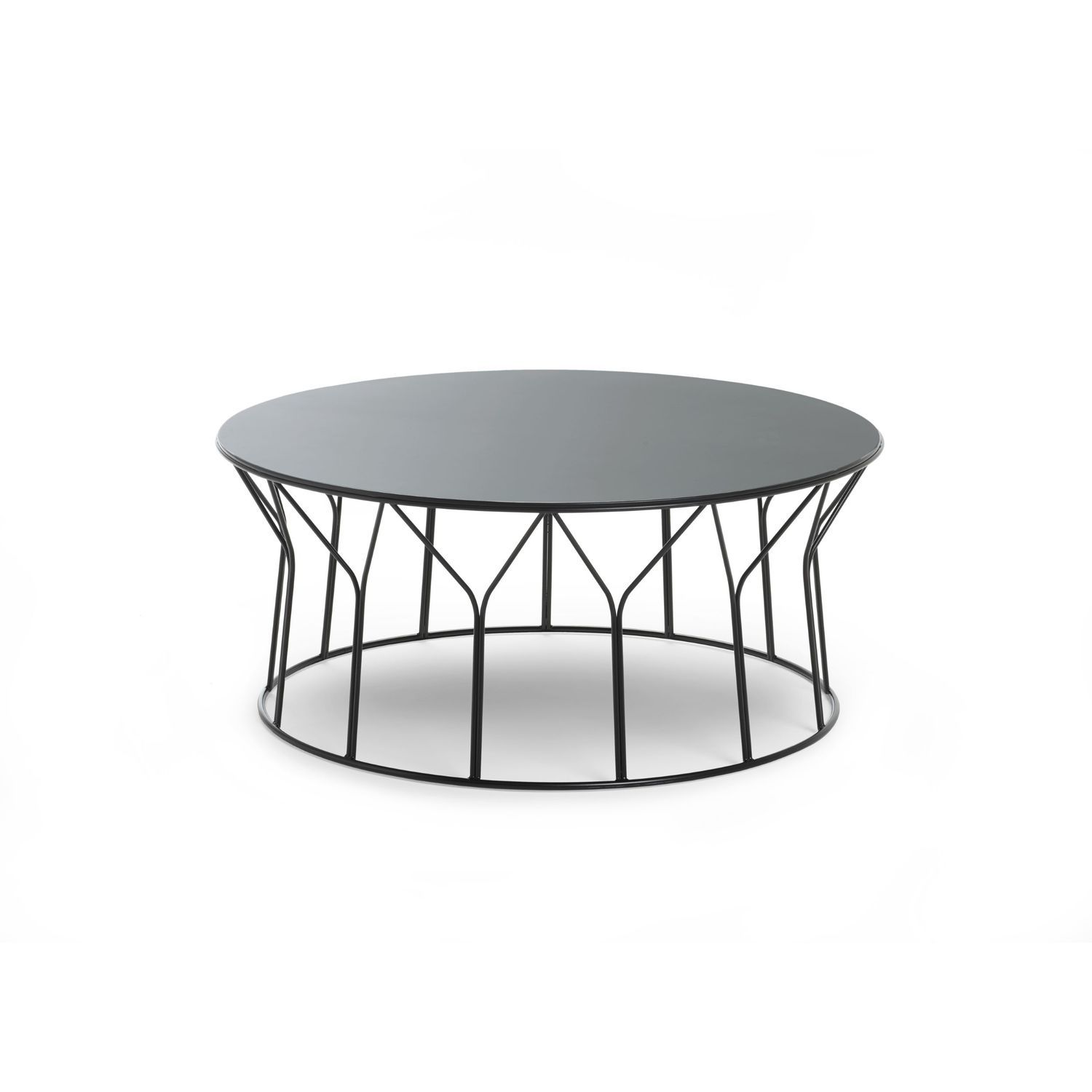 Contemporaine By Basse En Métal Mdf Table Ronde Circus iXPZuTOk