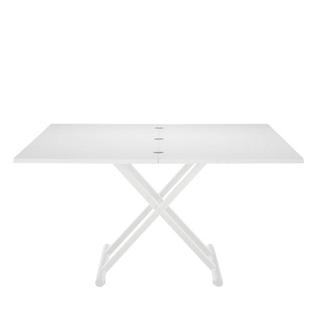 Rectangulaire Table Contemporaine Pliante En Métal Laqué OPZiXuTk