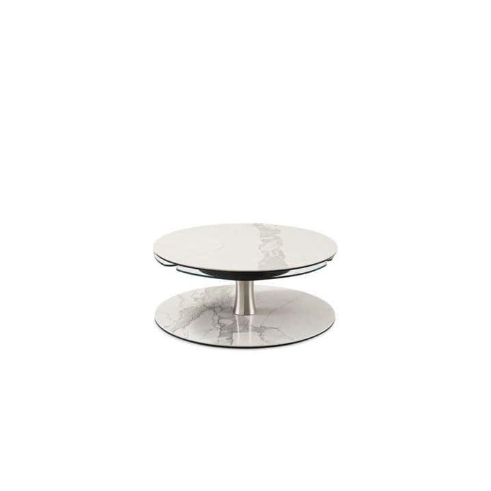 Table Basse Contemporaine En Verre En Acier En Ceramique