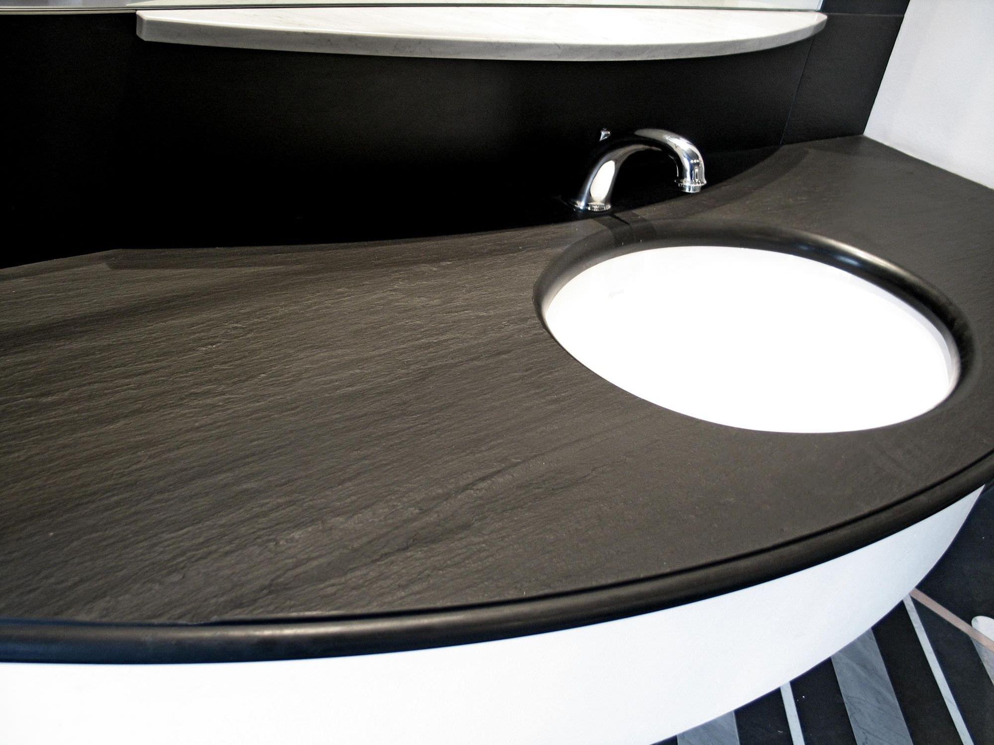 Plan Vasque En Pierre plan vasque en pierre naturelle / sur mesure - italian slate