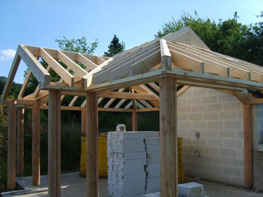 Charpente de toiture en bois - ORANGERIE - Artbois SA - lamellé-collé / préfabriquée