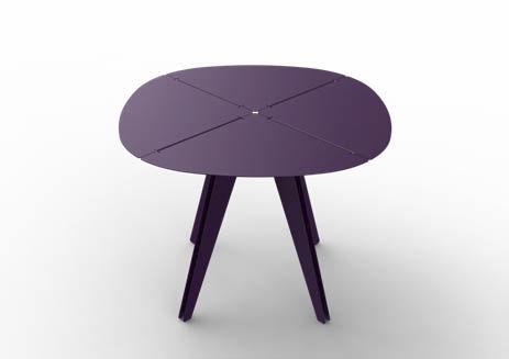Table à manger contemporaine / en aluminium / ronde / de ...