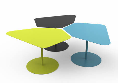 Table basse contemporaine / en acier galvanisé / en ...