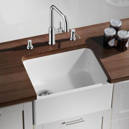 Admirable Évier 1 bac / en céramique / profond - BELFAST - BLANCO GmbH + Co KG KK-46