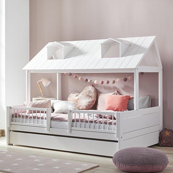 Chambre d\'enfant blanche / rose / en bois laqué / pour fille ...