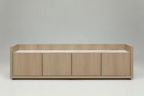 Buffet contemporain / en bois laqué / en rouvre / modulable