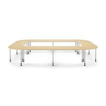 Table d'enseignement contemporaine / en MDF / en hêtre / en métal peint