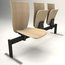 Chaise d'auditorium contemporaine / pliante / tapissée / à tablette