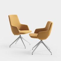 Chaise contemporaine / tapissée / à dossier haut / à hauteur réglable