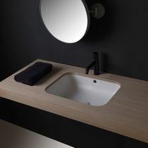 Vasque sous plan / en céramique / sans trou / sans trop-plein