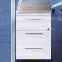 Caisson de bureau en mélaminé / à 3 tiroirs / à clé