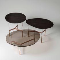 Table basse contemporaine / en bois / en verre / en marbre