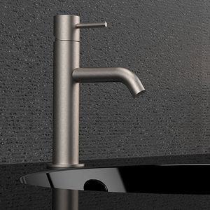 mitigeur pour vasque / pour lave-mains / en inox / 1 trou