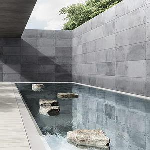 parement en béton / d'extérieur / d'intérieur / aspect pierre