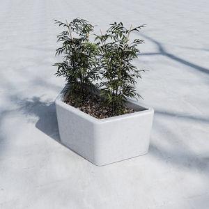jardinière en béton / trapézoïdale / contemporaine / pour espace public