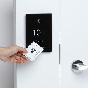 serrure électronique / de porte / avec poignée / RFID