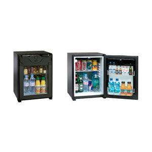 minibar vitré / à portes françaises / avec éclairage intégré / pour hôtel