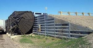 mur de soutènement en acier / modulaire / préfabriqué / en caisson