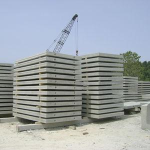 panneau structurel en béton / en béton armé / pour toiture / pour plancher
