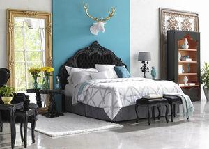 tête de lit pour lit double / de style / en bois / en cuir