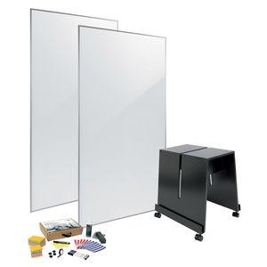 tableau blanc / sur pied / mobile / avec accessoires