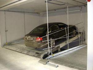 plateforme pour parking inclinée