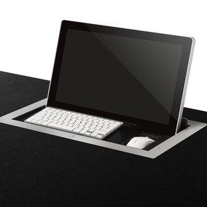 écran tactile pour table de conférence / sur plan / rétractable / motorisé
