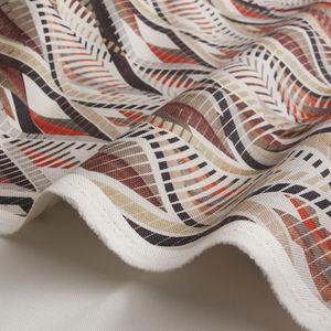 tissu d'ameublement / pour rideaux / à motif géométrique / à motif animalier