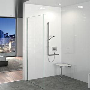 siège de douche amovible / mural / en polymère / professionnel