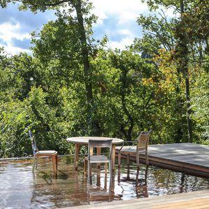 fond mobile pour piscine en bois