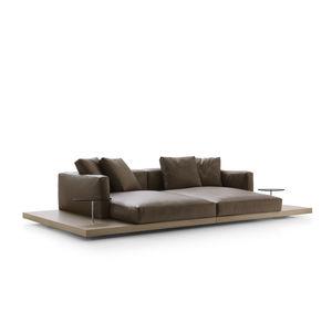 canapé contemporain / en tissu / en cuir / par Piero Lissoni